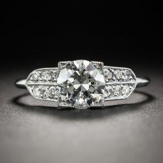 Art Deco 1.00 Carat Diamond Platinum Engagement Ring - GIA F VS2 - 2