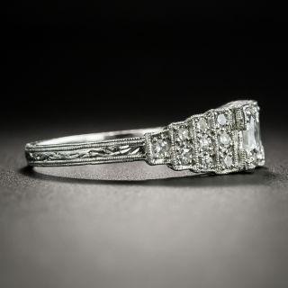 Art Deco 1.01 Carat Asscher-Cut Diamond Engagement Ring - GIA E VS1