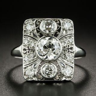 Art Deco 1.01 Carat Diamond Dinner Ring - GIA I VS2 - 3