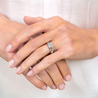Art Deco 1.01 Carat Diamond Engagement Ring - GIA E VVS2