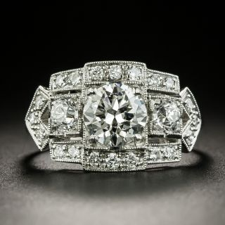 Art Deco 1.01 Carat Diamond Engagement Ring - GIA  G VS2  - 2
