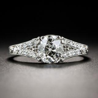 Art Deco 1.01 Carat Diamond Engagement Ring - GIA J VVS2 - 1