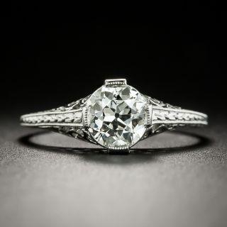 Art Deco 1.01 Carat Diamond Solitaire Engagement Ring - GIA J VS2 - 2