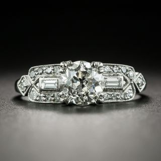 Art Deco 1.03 Carat Diamond Engagement Ring - GIA J VS2 - 2