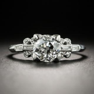 Art Deco 1.03 Carat Diamond Platinum Engagement Ring - GIA G VS2 - 2