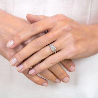 Art Deco 1.03 Carat Diamond Platinum Engagement Ring - GIA G VS2