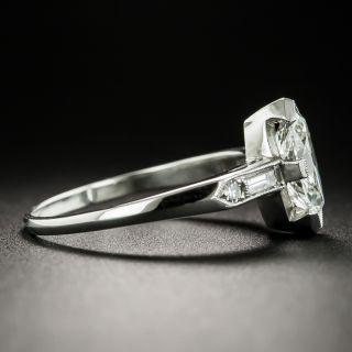 Art Deco 1.03 Carat Marquise-Cut Diamond Engagement Ring - GIA I VVS1