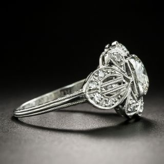 Art Deco 1.04 Carat Diamond Engagement Ring - GIA K VS2