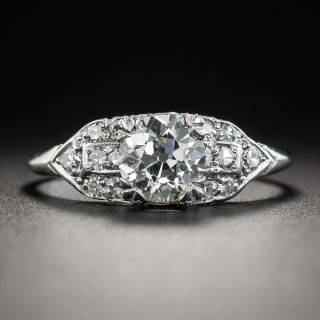 Art Deco 1.04 Carat Diamond Platinum Engagement Ring - GIA J VS2