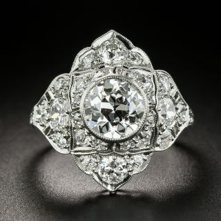 Art Deco 1.06 Carat Diamond Platinum Ring - GIA D VS2 - 2