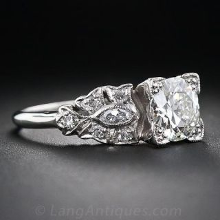 Art Deco 1.07 Carat Diamond Engagement Ring