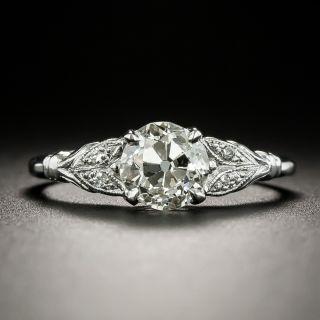 Art Deco 1.09 Carat Diamond Engagement Ring - GIA K SI1 - 3