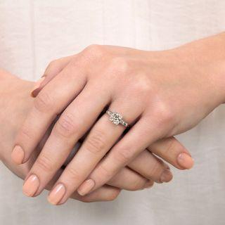 Art Deco 1.09 Carat Diamond Platinum Engagement Ring - GIA J VVS2