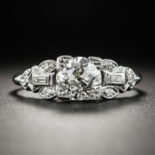 Art Deco 1.09 Carat Diamond Platinum Engagement Ring - GIA J VVS2  - 2