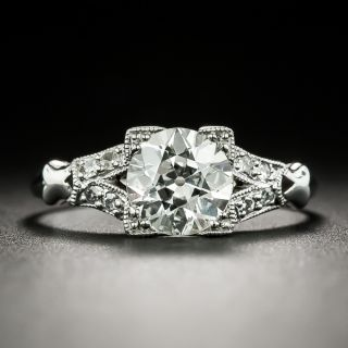 Art Deco 1.10 Carat Diamond Engagement Ring - GIA K VS2 - 2