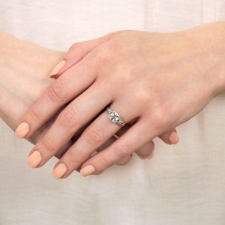 Art Deco 1.10 Carat Diamond Engagement Ring - GIA K VS2