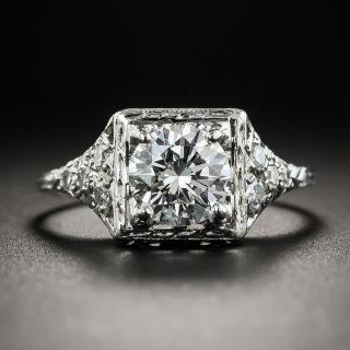 Art Deco 1.10 Carat Diamond Platinum Engagement Ring - GIA G VS1 - 2