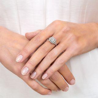 Art Deco 1.10 Carat Diamond Platinum Engagement Ring - GIA G VS1