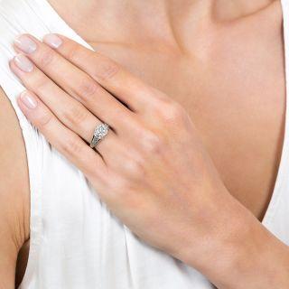 Art Deco 1.10 Carat Diamond Solitaire Engagement Ring - GIA F SI2