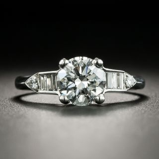 Art Deco 1.11 Carat Diamond Engagement Ring - GIA E VVS2 - 2