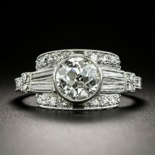 Art Deco 1.12 Carat Diamond Engagement Ring - GIA H SI2 - 2