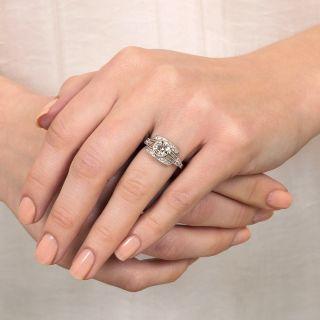 Art Deco 1.12 Carat Diamond Engagement Ring - GIA H SI2