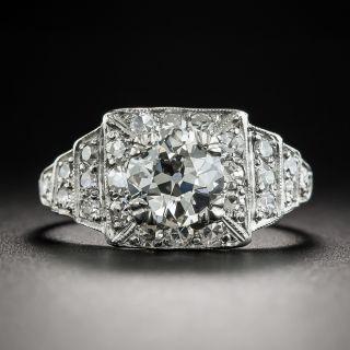 Art Deco 1.13 Carat Diamond Platinum Engagement Ring - GIA I VS2 - 1