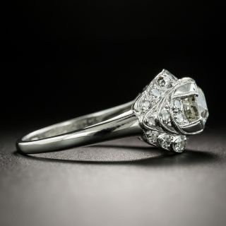 Art Deco 1.15 Carat Diamond Engagement Ring - GIA M SI1