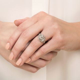 Art Deco 1.16 Carat Diamond Engagement Ring - GIA I VS1