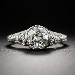 Art Deco 1.19 Carat Diamond Engagement Ring - GIA G SI2 - 1