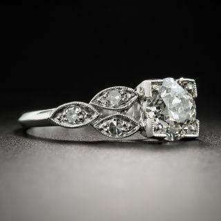 Art Deco 1.20 Carat Diamond Platinum Engagement Ring - GIA J VS2