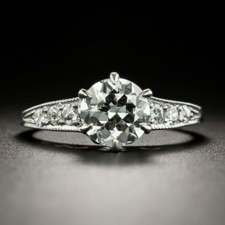 Art Deco 1.21 Carat Diamond Engagement Ring - GIA I SI2 - 3