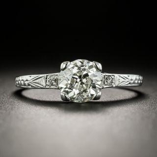 Art Deco 1.21 Carat Diamond Solitaire Engagement Ring - GIA L SI1 - 2