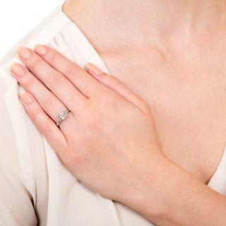 Art Deco 1.21 Carat Diamond Solitaire Engagement Ring - GIA L SI1