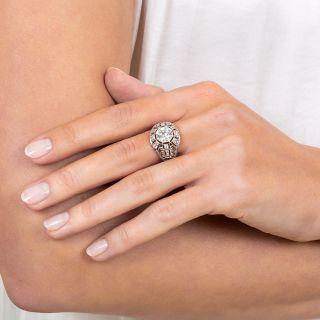 Art Deco 1.22 Carat Diamond Platinum Engagement Ring - GIA H SI1