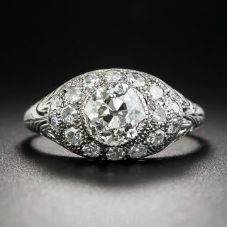 Art Deco 1.22 Carat Diamond Platinum Engagement Ring - GIA J SI1