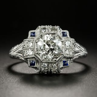 Art Deco 1.23 Carat Diamond Engagement Ring - GIA J VS2 - 3