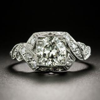 Art Deco 1.23 Carat Diamond Engagement Ring - GIA N VS2 - 3