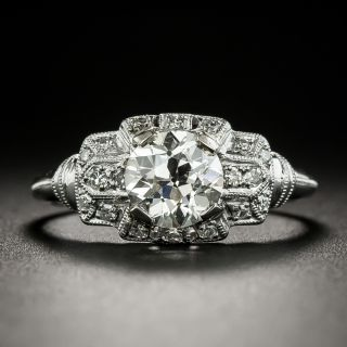 Art Deco 1.24 Carat Diamond Engagement Ring - GIA K VVS2 - 3