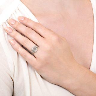 Art Deco 1.27 Carat Diamond Engagement Ring - GIA L SI1