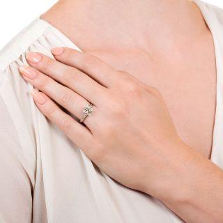Art Deco 1.31 Carat Diamond Solitaire - GIA M VS1