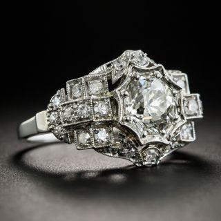 Art Deco 1.35 Carat Diamond Platinum Engagement Ring - GIA L SI2