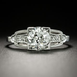 Art Deco 1.35 Carat Diamond Engagement Ring - GIA J I1 - 3