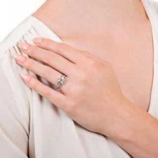 Art Deco 1.35 Carat Diamond Engagement Ring - GIA J I1