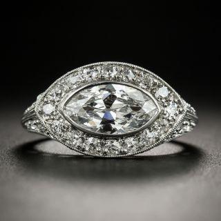 Art Deco 1.38 Carat MarquiseDiamond Engagement Ring - GIA E SI1 - 2