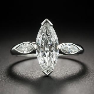 Art Deco 1.40 Carat Marquise Diamond Engagement Ring GIA - F VS1 - 1