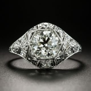 Art Deco 1.47 Carat Diamond Engagement Ring - GIA L VVS2 - 2