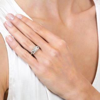 Art Deco Style 1.48 Carat Diamond Platinum Engagement Ring - GIA J VS2