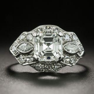 Art Deco 1.50 Carat Asscher-Cut Diamond Engagement Ring - GIA G SI1 - 2