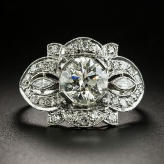 Art Deco 1.50 Carat Diamond Engagement Ring - GIA L VS1 - 2
